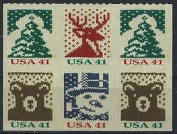 USA. Scott # 4215-18 MNH Pane Of 6 From ATM Booklet Of 18.  Christmas 2007 - 1981-...