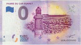 Billet Touristique 0 Euro Souvenir France 33 Phare Du Cap Ferret 2020-1 N°UEQJ000680 - EURO