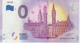 Billet Touristique 0 Euro Souvenir France 59 Lille 2020-1 N°UENS000380 - EURO