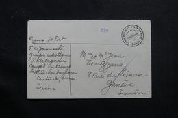 SUISSE - Enveloppe Du Camp D'Internement De Herzogenbuchsee Pour Genève  - L 55760 - Storia Postale