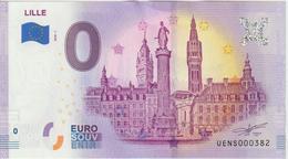 Billet Touristique 0 Euro Souvenir France 59 Lille 2020-1 N°UENS000382 - EURO