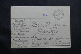 SUISSE - Enveloppe Du Camp D'Internement De Grosswangen Pour Genève  - L 55764 - Storia Postale