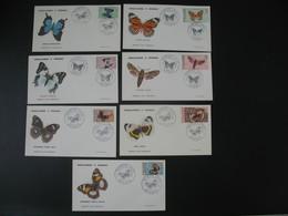 FDC Nouvelle-Calédonie 1967 N° 341 à 344 + PA 92 à 94 Papillons - FDC