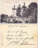 THIENE - VICENZA - FONTANA MONUMENTALE E CASTELLO COLLEONI - VIAGG. 1917 -53347- - Vicenza