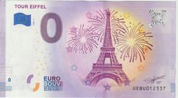 Billet Touristique 0 Euro Souvenir France 75 Paris Tour Eiffel 2020-6 N°UEBU012337 - Private Proofs / Unofficial