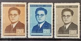 ALBANIA 1947 - MNH - Mi 415, 416, 417 - Albania