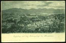 """Bad Godesberg 1905 Mondscheinkarte """" Godesberg Und Siebengebirge Bei Mondschein """" - Bonn"""
