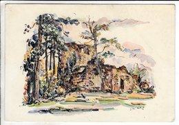 Cp Illustrateur Obernai Ruines De L Eglise Oberlinden - Obernai