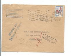 """Lettre De Paris Pour Paris 1962  Mention  """" N' Habite Pas à L'adresse Indiquée Et Retour à L'envoyeur """" - Marcophilie (Lettres)"""