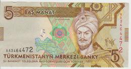 Turkmenistan 5 Manat 2009 Pick 23 UNC - Turkménistan
