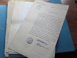 Alte Dokumente / Zeugnisse / Briefe / Amtsbriefe 1906 - 1946 überwiegend Lörrach Und Dr. Professor Otto Schenck - Historische Dokumente