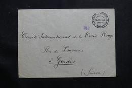SUISSE - Enveloppe Du Camp D'Internement De Walterswil Pour Genève  - L 55776 - Marcofilie