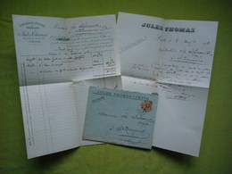 Facture Lettre à Entête + Enveloppe Futailles Jules Thomas à Cette - France