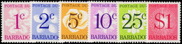 Barbados 1976 Postage Due Perf 14 Set Unmounted Mint. - Barbados (1966-...)