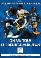 France Postcard 2004 Athens Olympic Games - Support The French Team Mint (G87-63) - Estate 2004: Atene