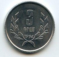 Armenia 1994 Year. 3 Dram - Armenien