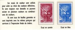 Mistral 2098 Deux Essais De Couleur - Essais