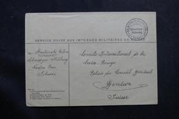 SUISSE - Enveloppe Du Camp D'Internement De Schmidigen - Mühleweg Pour Genève  - L 55791 - Marcofilie