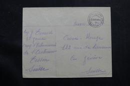 SUISSE - Enveloppe Du Camp D'Internement De St Antonino Pour Genève  - L 55795 - Storia Postale