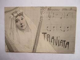 LA   TRAVIATA      -   JEUNE  MARIEE  A  LA  HARPE         TTB - Opéra