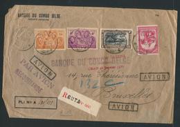 "BELGIAN CONGO AIR CRASH ORAN 28.01.1937 ""Le Savoia – Marchetti S.73 De La SABENA"" NICE REGISTERED BANK COVER FROM BUTA - Belgisch-Kongo"