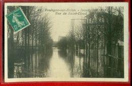 3163 - BOULOGNE BILLANCOURT - INONDATIONS 1910 - RUE DE SAINT CLOUD - Boulogne Billancourt