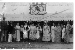 AGON COUTAINVILLE KERMESSE DE LA PLAGE - LE BAR  AVEC TAMPON TOMBOLA N°2506   RARE EN L'ETAT - Other Municipalities