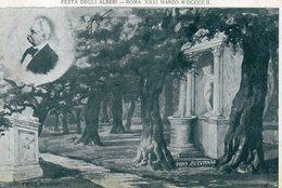 CARTOLINA DI ROMA FESTA DEGLI ALBERI XXXI MARZO M DCCC.IL  VIAGGIATA SENZA FRANCOBOLLO - Expositions