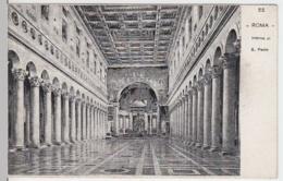 (4168) AK Rom, Vatikan, St. Paul Vor Den Mauern, Inneres, Bis 1905 - Vatikanstadt