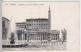 (4235) AK Rom, Vatikan, Vatikanpalast, Petersplatz, Kollonaden, Bis 1905 - Vatikanstadt