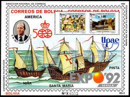 Bolivia 1990 America Souvenir Sheet Unmounted Mint. - Bolivie
