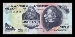 Uruguay 50 Nuevos Pesos 1989 Pick 61A Serie G SC- AUNC - Uruguay