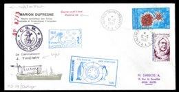 17136 T.A.A.F  N°111,117 °Marion Dufresne : Belgian Participation Indigo 3   Crozet Du 12.2.1987   TB - Cartas