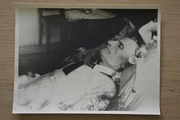 Post Mortem Homme Mort Sur Son Lit Décès GRANDE Photo 18 X 24 - Photos
