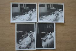 Post Mortem Homme Mort Sur Son Lit Décès Lot De Photos 12 X 9 - Photos