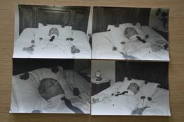 Post Mortem Homme Mort Sur Son Lit Décès Lot De Photos Cartes - Photos