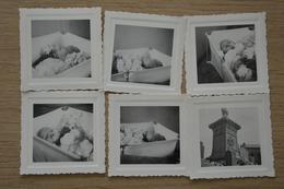 Post Mortem Enfant Mort Sur Son Lit Décès Lot De Photos 7 X 7 - Photos