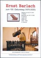 """Ernst Barlach Gedenkblatt Anlässlich 150. Geburtstag, Auktionshaus Flemming,mit Briefmarke BRD 1999 """"Der Bettler"""" (3) - Nuovi"""