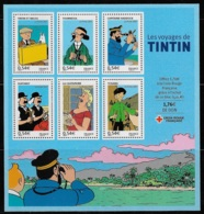 FEUILLET N° 109 PERSONNAGES CELEBRES LES VOYAGES DE TINTIN NEUF ** LUXE COTE 12 € - Neufs