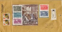 ##(DAN203)-Italia 1992-Sacchetto Spedito Come Pacchetto Postale Raccomandato+Lettera Da Corsico Per Livorno - 6. 1946-.. Repubblica