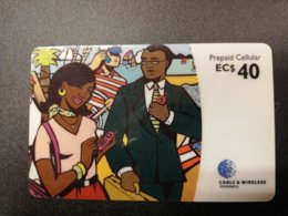 CARIBBEAN ISLANDS EC $ 40,-PREPAID CELLULAIR, Used ** 276** - Altri – America