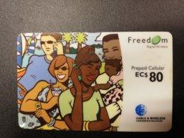 CARIBBEAN ISLANDS EC $ 80,-PREPAID CELLULAIR FREEDOM, Used ** 276** - Altri – America