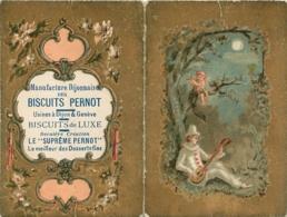 CALENDRIER 1897 BISCUITS PERNOT USINES DE DIJON ET GENEVE FORMAT OUVERT 10.50 X 8 CM - Calendars