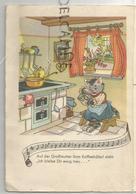 "Chatte Dans Sa Cuisine: ""Auf Der Grossmutter Ihrm Kaffeehäferl: ""Ich Bleibe Dir Ewig Treu..."". Portée Musicale. - Animaux Habillés"