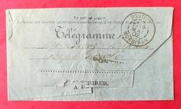 Morbihan. Télégramme Avec Cachet De Pontivy - Postmark Collection (Covers)