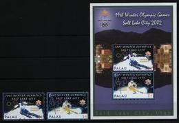 Palau 2002 - Mi-Nr. 2082-2083 & Block 150 ** - MNH - Olympia Salt Lake City (I) - Palau