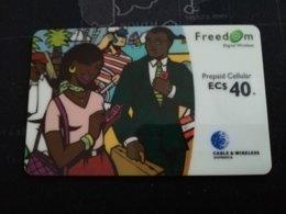 CARIBBEAN ISLANDS EC $ 40,-PREPAID CELLULAIR FREEDOM, Used ** 278** - Altri – America
