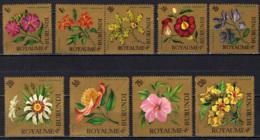 BURUNDI - 1966 - FIORI - FONDO ORO - GOMMA BRUNITA - MNH - 1962-69: Neufs