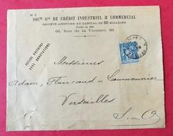 Devant D'enveloppe Avec Type Sage Perforé CIC - Francia