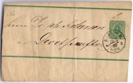 DR Streifband Berlin 22.9.1888 - Interi Postali